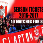 10 Matches for 8 with half off season ticket for 2017