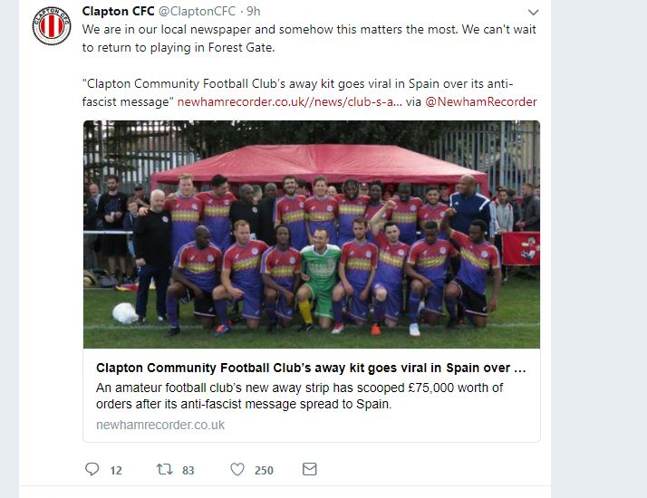 b99443c8d7d Clapton Football Club not connected to CCFC – Clapton Football Club